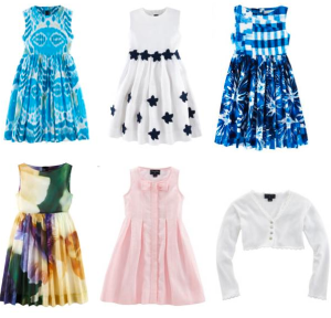 Left to Right:  IKAT PRINT PARTY DRESS $250,