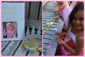 Royal Crown Decorating: Each child received a gold crown and was able to decorate it with foam stickers.