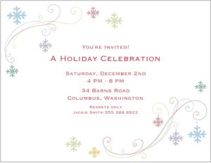 Host a Holiday celebration! Image from vistaprint