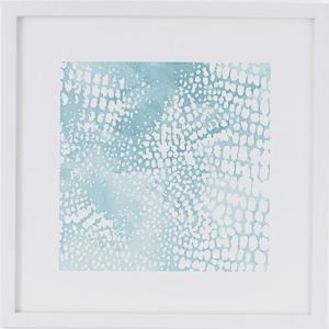 West Elm collaborated with minted to support independent Artists.  I love this  Waterscape Color block!  Image from and available at WestElm.com