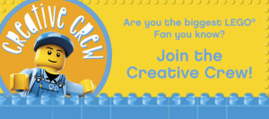 Is your child the biggest LEGO® fan you know? LEGOLAND® Discovery Center Westchester is seeking twelve children aged 5 to 10 to be part of our new Creative Crew! The Creative Crew will assist our Master Model Builder, with important tasks at LEGOLAND® Discovery Center Westchester.  Click the image to find out more!