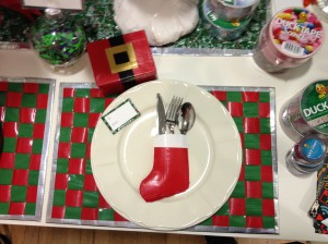 place mat, name card, utensil holder & gift box